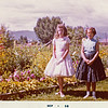 Becky Howard and Jean Reynolds at grandparent's house in September 1958