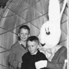 April 1949 - easter at uncle John's and Aunt Harriet; Bob turned his plate upside down on his head at the dinner table! Bob and John Reynolds (6 1/2), Portland Oregon