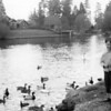 John and Geese in Bend Oregon 1949