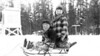 Bob and John, winter of 1948 in West Yellowstone, MT