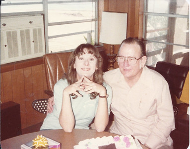 Cindy & Bobby - birthday at Port O'Conner (1982)