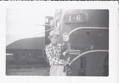 John David with Papo Langston at the train yard 1952