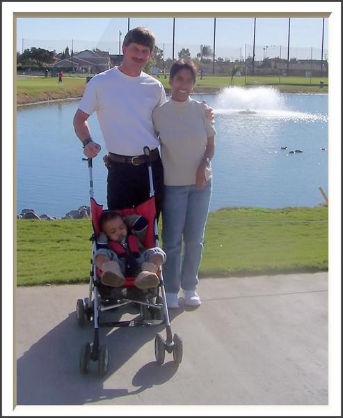 Joe and Lori Walking Peyton (71751455)
