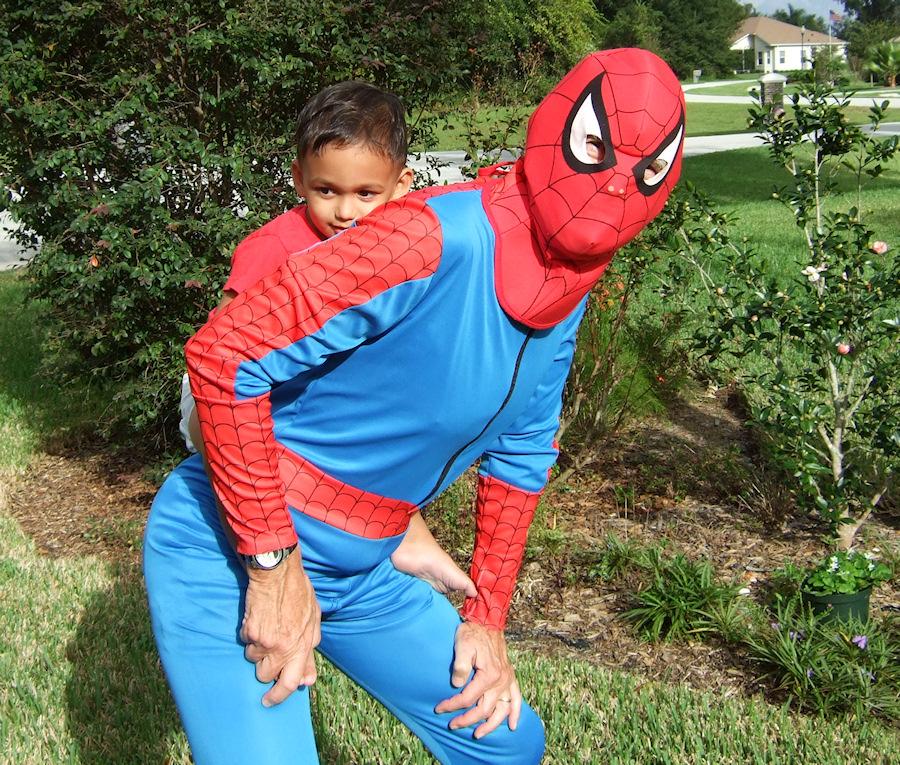 Spiderman takes Peyton for a ride (88297425)