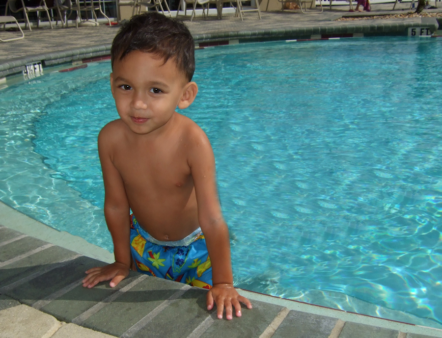 Posing at the Pool (88403107)