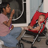 Blowing bubbles with aunt Lori (56928496)