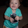 Kennedy loves Auntie Mer's cell phone.