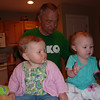 Klaire and Kennedy on Amy's kitchen counter.
