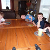 Conner, Tarek, Hayden, and Asher waiting for the birthday cake.  March 2010
