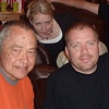 Lars, Bryan, and Amy at Lars' birthday celebration.