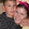 Dominick Loushin with aunt Elizabeth Rugile