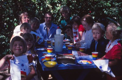 Tonya's 6th Birthday Party. June 1978.