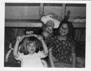 1977 Tonya, Chris, and cousin Djuna playing in Grandpa's camper