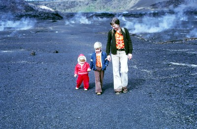 February 13, 1974, on a lava bed on the big island of Hawaii.