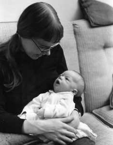 Chris, age 6 weeks, and I were in Danvers the night astronauts first walked on the moon.  July 20, 1969.  I looked down at him and realized that his generation might grow up thinking that walking on the moon was routine.