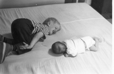 Brother and sister. July 1972