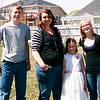 The Grandkids pose in the back yard