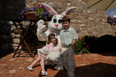 Ethan, Evie and Mr. Bunny