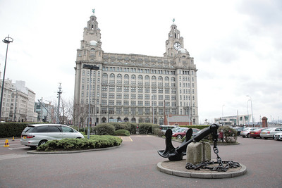 The Liver building from the enterance to the Crown Plaza