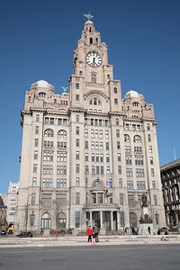 Thomas, Rosie & Alison by the Liver building (yes they are there somewhere!)