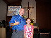 Highlight #2... I was blessed to baptize this young lady (Savannah is her name) in the service.  She had been attending services when she visited her grandmother every few weeks, and grew to love the church and the Lord to the point where, a month ago, she told her grandma she wanted to be baptized.  How sweet is that?  For this pastor, it doesn't get any sweeter!  We decided to do it during Children's Time on Easter Sunday.  It was a blessed moment in my life, the life of our little church, and I believe, in Savannah's life as well.  May the Lord's blessing be upon her!