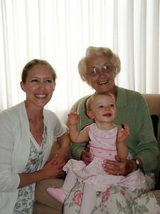 Ari, Cambria and Great-Grandma Pat