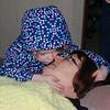 A goodnight kiss for Grandma RoRo