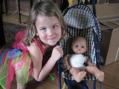 Carly and her doll.