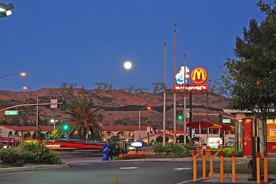 Moonrise at Sunset - Filmore, CA
