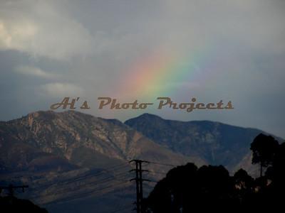 Santa Clarita at dusk.  Last rainbow for the day...