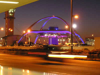 LAX at night, '03.  Hand held and the 2nd level shaking with the traffic.