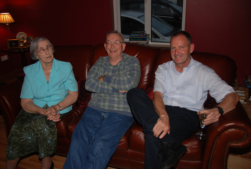 16th August 2008. Ed & Mary spent a couple of days in Galway with Ed's first cousin Mary Scannell (nee Lydon) and her husband Paul, Here Ed is sitting with his aunt, Bridie Lydon, and his cousin Stephen Lydon (Bridie's son).
