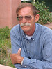 My darling husband waiting for Mark Schultz concert (no he didn't stay), June 25, 2005, Moab, UT