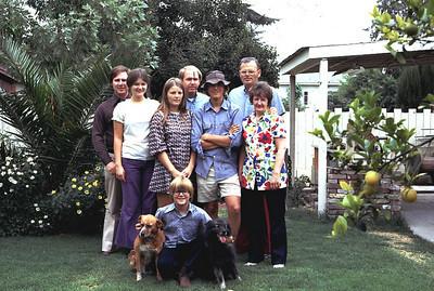 The Edberg family in 1970