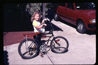 Kristina with Bike