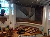 Organist dwarfed by the Grand Pipe Organ