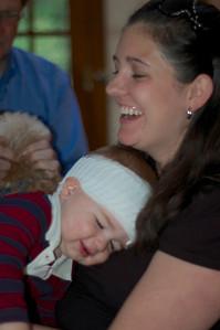 Edmund with auntie Becca