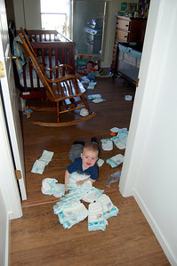 Edmund found the diapers
