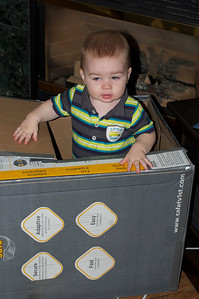 Edmund in his play box