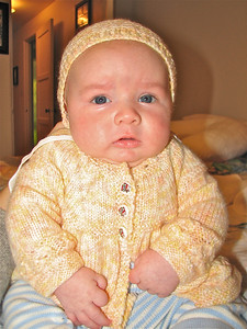 Edmund doesn't really like being dressed. This is an outfit his dad wore when he was a baby.