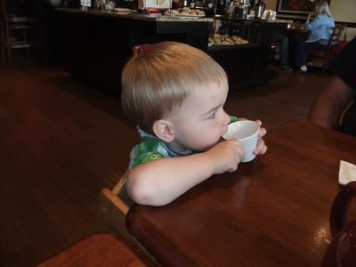 Edmund loves drinking tea