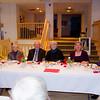 Head table with David, Audrey, Edwin, Barbara, Kristin & Don (Ed's daughter & husband)