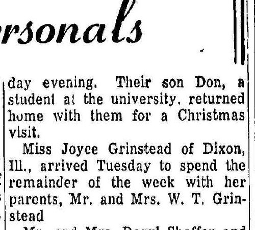 19551227_clip_joyce_vists_from_dixon_illinois