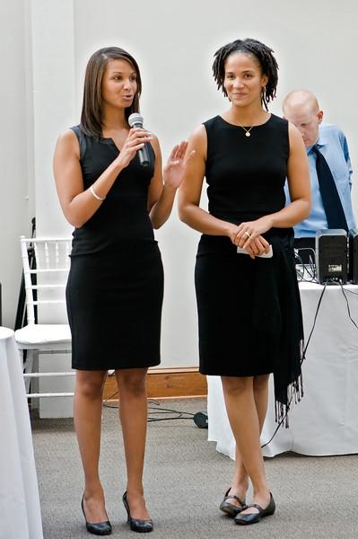 Nina and Leah, toasts