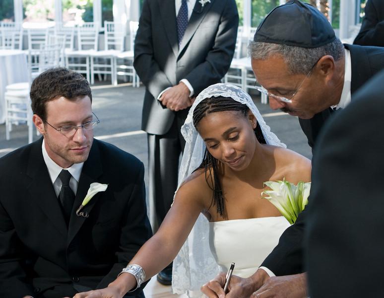 Efrem, Eva, Bob, at Ketubah signing