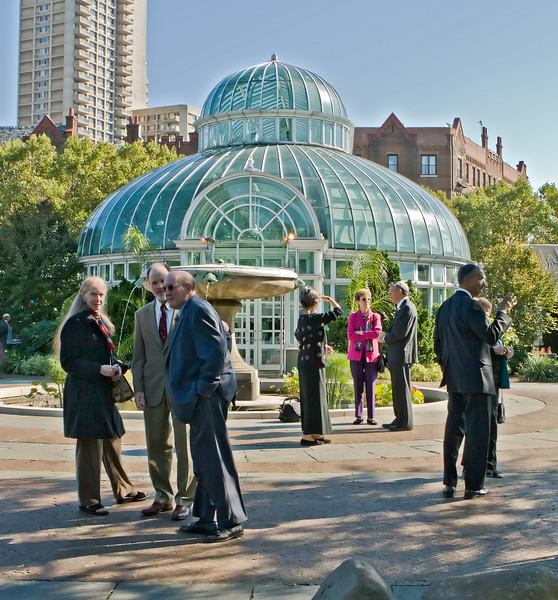 Outside Palm House, Brooklyn Botanical Garden