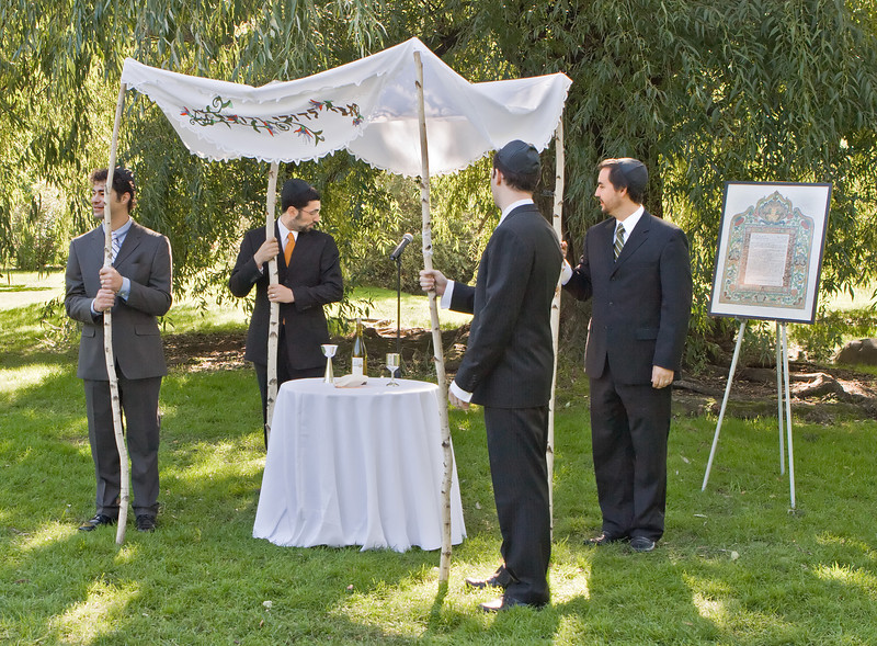 The four Huppah holders, before ceremony