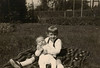 1966 - Anna Lisa with baby Ivan in our yard in Germany