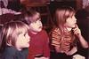 1970 - Lydia, Ivan & Anna Lisa watching TV at Grandma's