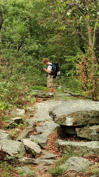 Seth on Appalachian Trail hike